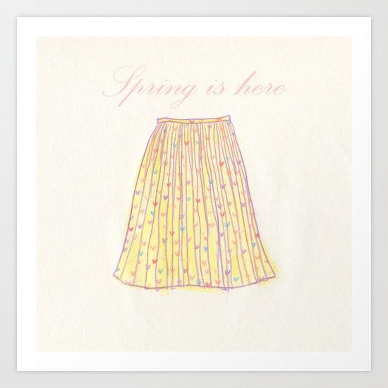 Spring is hear skirt Art Print