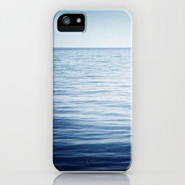 Blue Ocean Seascape, Dark Blue Sea Landscape Photography, Ocean Horizon iPhone Case