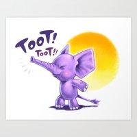 Mr Toot Toot Art Print