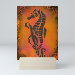 Fire Seahorse Mini Art Print