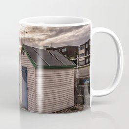 Beach Huts At Sunset Coffee Mug
