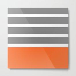 Orange Stripe Metal Print