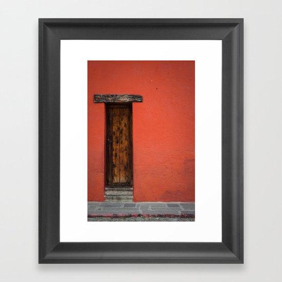 La Puerta Roja Framed Art Print
