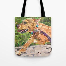 Running with Jonesy Tote Bag