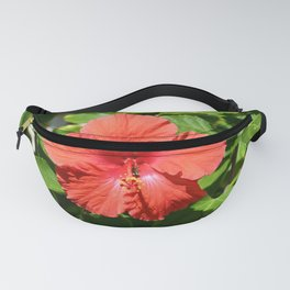 Orange Hibiscus Flower Fanny Pack