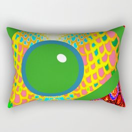 Futuristic Cyborg Logo 14 Rectangular Pillow