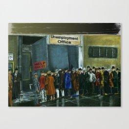Unemployment Benefits Canvas Print