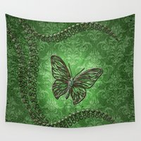 decorative Wall Tapestries featuring Decorative butterfly by nicky2342