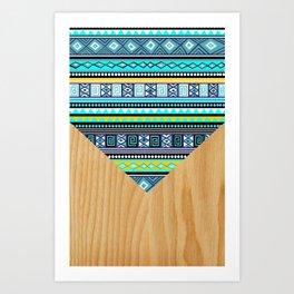 tribal azul Art Print