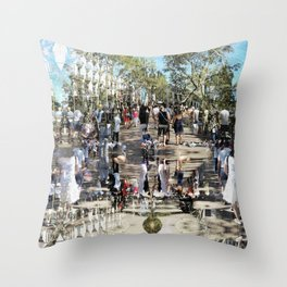 Summer space, smelting selves, simmer shimmers. 25 Throw Pillow