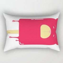 Oso Paleta Helada (rojo) (Popsicle Bear (red) Rectangular Pillow