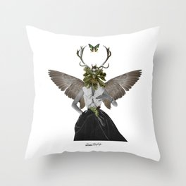 Complicated creature - melodious Throw Pillow