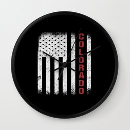 Colorado USA Flag Wall Clock
