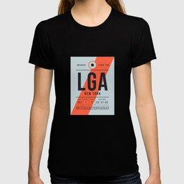 Luggage Tag E - LGA New York LaGuardia USA T-shirt