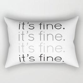 it's fine. Rectangular Pillow