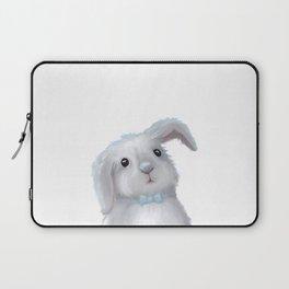 White Rabbit Boy isolated Laptop Sleeve