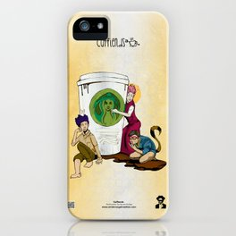 Caffiends: The Aficionado, the Cat, and the Spaz iPhone Case