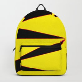 Triangles Yellow Black and Red Backpack
