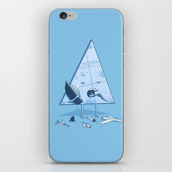 Bermuda triangle iPhone & iPod Skin