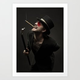 Smoking Ace Art Print
