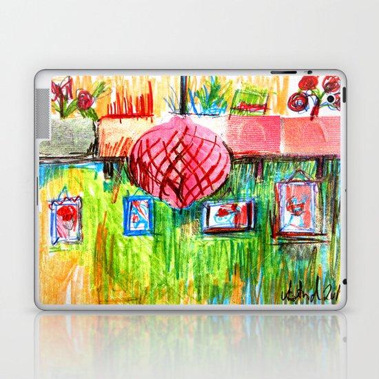 red lamp and shelf Laptop & iPad Skin