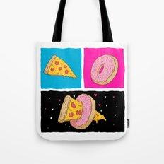 Pizza & Donut Tote Bag