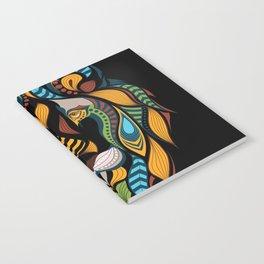 African Lion Head Notebook