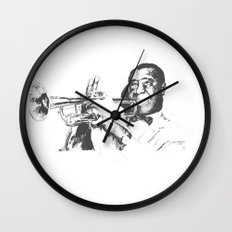 Louis Armstrong, Satchmo or Pops Wall Clock