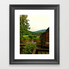 Beyond The Cabin Doors  Framed Art Print