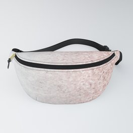 Real Marble and Rose Gold Mermaid Sparkles III Fanny Pack
