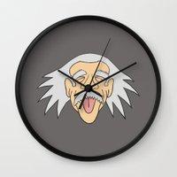 einstein Wall Clocks featuring Einstein by martinashdesign