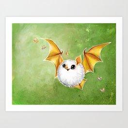 Cotton Ball Bat Art Print