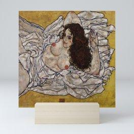 "Egon Schiele ""Reclining Woman"" Mini Art Print"