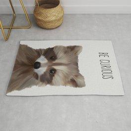Raccoon Print, Baby Animal, Woodland Animals Wall Art, Nursery Decor, Baby Shower, Digital Download, Rug