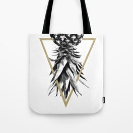 Pineapple Upside Down Geo #1 #tropical #fruit #decor #art #society6 Tote Bag