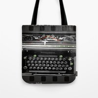 writer Tote Bags featuring The Writer by blueorder Art