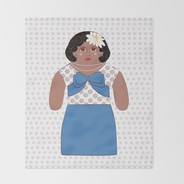 Billie Holiday Throw Blanket