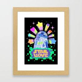 R2-D2 Star Love Framed Art Print