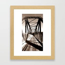 Shadowed Bridge Framed Art Print