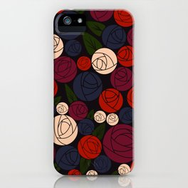 Minimal roses iPhone Case