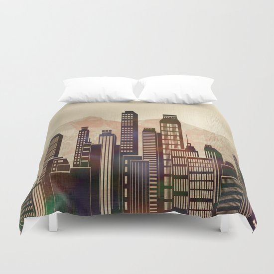 Metal City - beige Duvet Cover