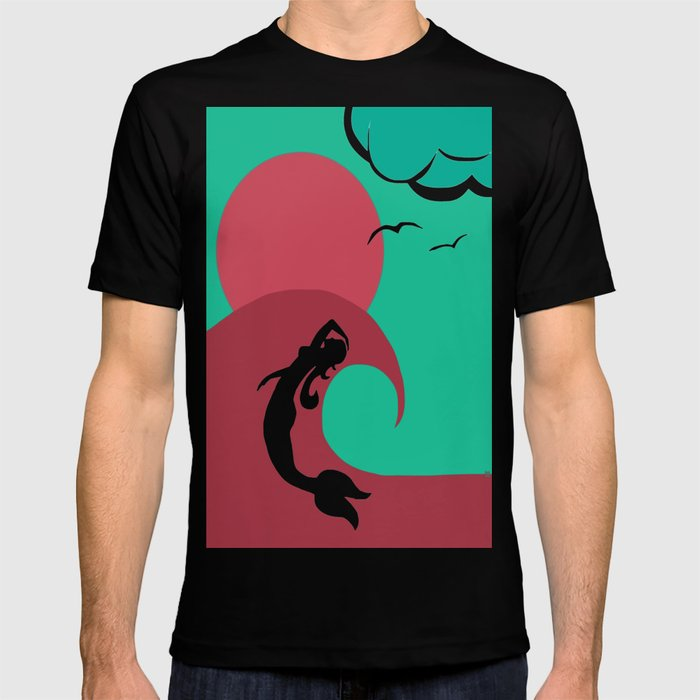 Mermaid Silhouette T-shirt
