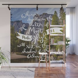 Psalm 91 with Background Wall Mural