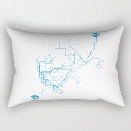 Subway - nyc vs istanbul Rectangular Pillow