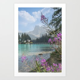 Mountain oasis. Art Print