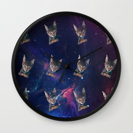 Space Angry Cat, Funny Cute Galaxy Cat Gift, Cat Lover, Dank Meme Space Kitty, Animal Lover, Kitten Wall Clock