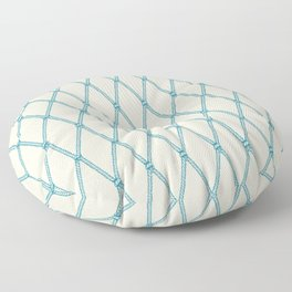 Nautical Fishing Net (Beige and Teal) Floor Pillow