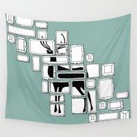 frames Wall Tapestries featuring Hidden Deer by Anna Grunduls