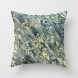 Stones in the River Throw Pillow