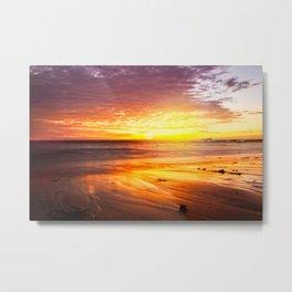 Beach Sunrise Metal Print